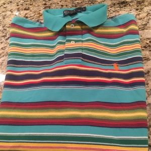 Polo Ralph Lauren Turquoise Striped Polo